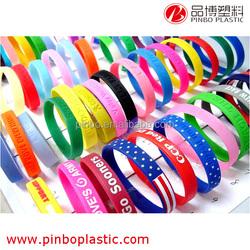 fashion silicone bracelet rubber bracelet, Colorful 100% Silicone fashion Bracelet