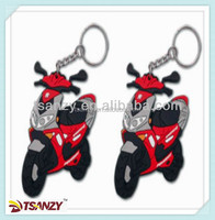 Fashion custom design soft pvc rubber 3D motorcycle keychain