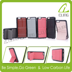 New design leather back cover stand phone case for iphone 6 6s plus 5 5s 5c 4s for Samsung galaxy S3 S4 S5 S6 Note 3 4 5 case