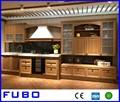 estilo americano de madera del gabinete de cocina de diseño