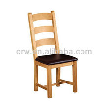RCH-4041 Dark Brown Leather Seat Solid Oak Dining Chair