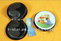 Round CD/DVD storage tin can with zip factory