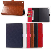 Luxury Oil PU leather wallet case for iPad air 3