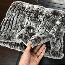 conejo de rex venta al por mayor cuello de piel verdadera winter moda caliente venta al por mayor fur bufanda de punto