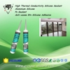 High Thermal Conductivity Aluminium Ps Anti-ozone Rtv Silicone Adhesive Sealant
