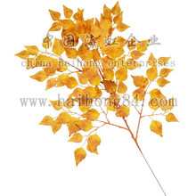 45-110cm artificial leaf, artificial birch spray, fire-retardant branch
