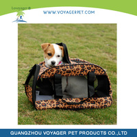 Lovoyager leopard print pet carrier for dogs