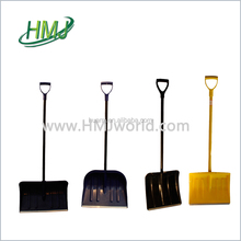 High quality good look texture plastic snow shovel with handle