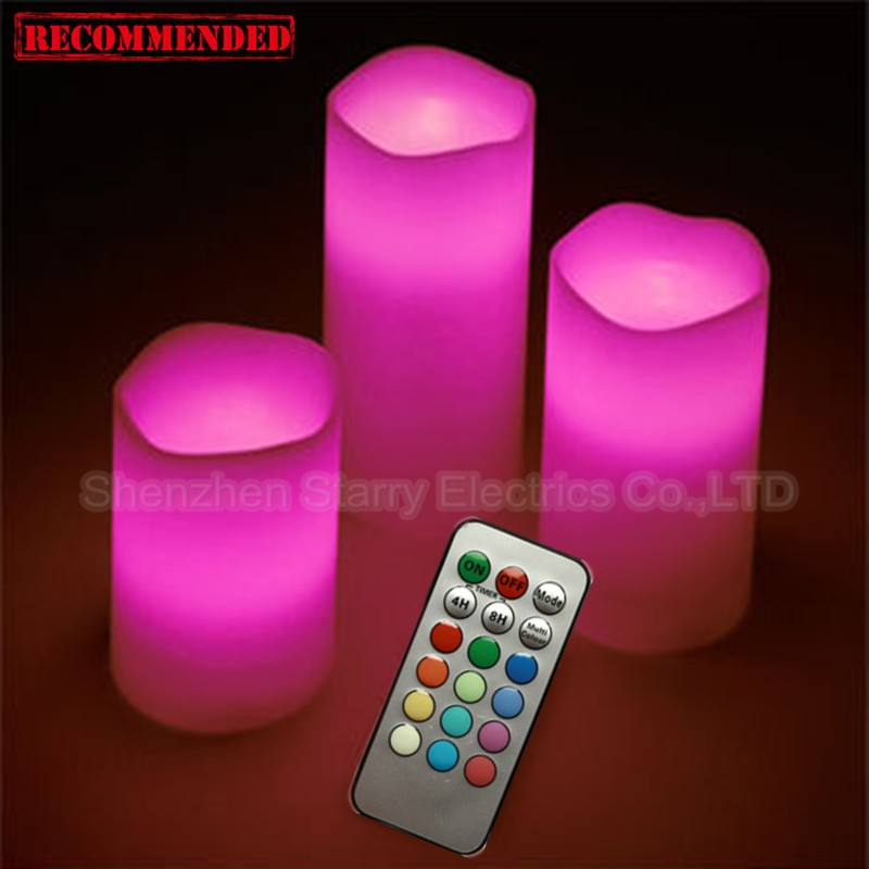 Hot Sale Color Changing Ivory Remote Led Pillar Candle - Buy ...