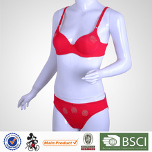 Fancy Design Cute Young Girl Polyester Sex Bf Bra Panty Set