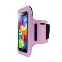 China supplier adjustable waterproof mobile phone case armband with key holder wholesale with logo