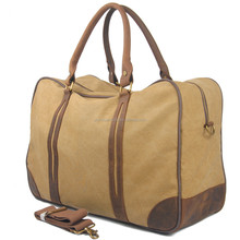 Hot-Selling Hot Quality Factory Price Customize Cylinder Bag Waterproof Duffel Bag Cotton Canvas Woman Travel Bag