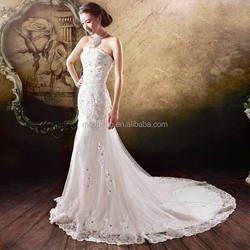 Wedding dress mermaid/ backless mermaid wedding dress/ mermaid tail wedding dress bridal gown