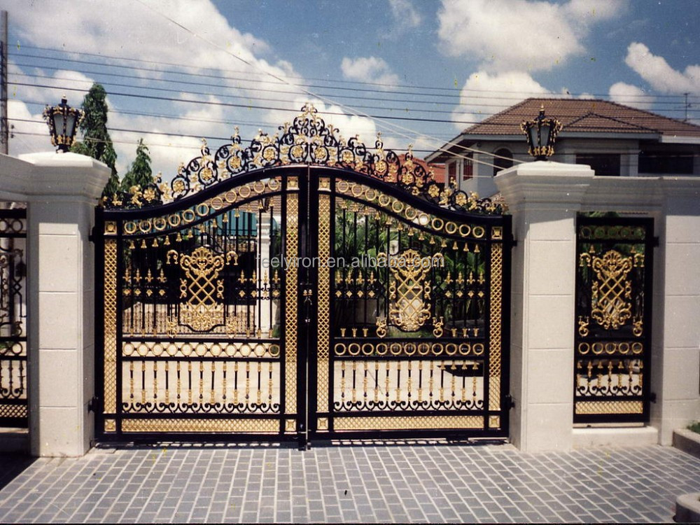 House main gate iron gate grill designs buy house main for Home gate architecture