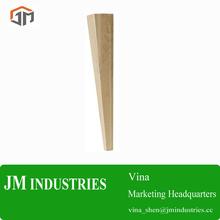 jmv560- natural unfinished tapered wooden bed feet/bed leg/bed base legs