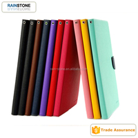 Leather flip case for iPad mini 2 folding tablet double color leather