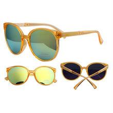 96986 Transparent orange crystal mirror lens frogskin sunglasses