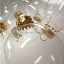 open hollow glass decorative balls for christmas ornament with factory price