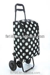 White dot 4 wheels shopping cart/travel bag/duffle bag/trolley