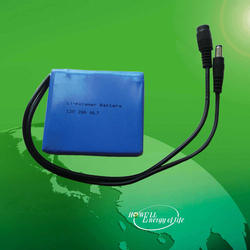 IEC62133, UN Approved 12V Lithium polymer Battery / Small 12 Volt Battery / 12V Lipo Battery