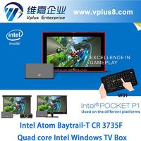 Vplus POCKET P1 intel mini window pc 1080p rj45 vensmile w10 window s tv box