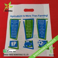 die cut biodegradable plastic gift bags