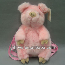 Cute Pink Plush Pig Backpack for Kids
