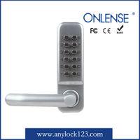 Push button keyed sliding glass door lock