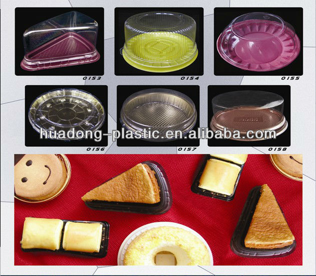 Disposable Plastic cake bread biscuit box container at low price