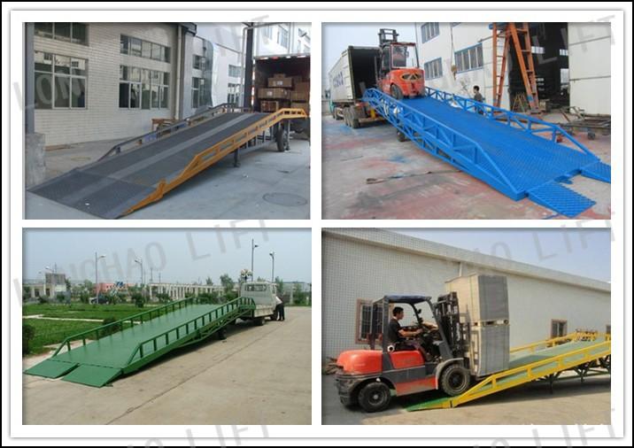 M Canique Acier Mobile Hydraulique Chargement Dock Rampe