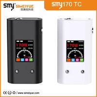big battery mod e-cigarette china wholesale vaporizer pen smy170 tc 18650 battery temp control 170w