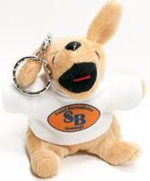 10cm cute Customized Plush Mini Dog Keychain