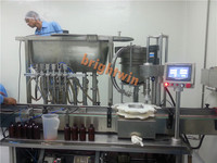factory price automatc teel oil/mustard oil bottle filling capping machine