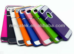 Cell phone case chrome rubber hard case for iphone 5 5s, for iphone 5 case hard
