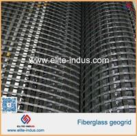 earthwork bitumen base material glassfiber biaxial geogrid for road reinforcement