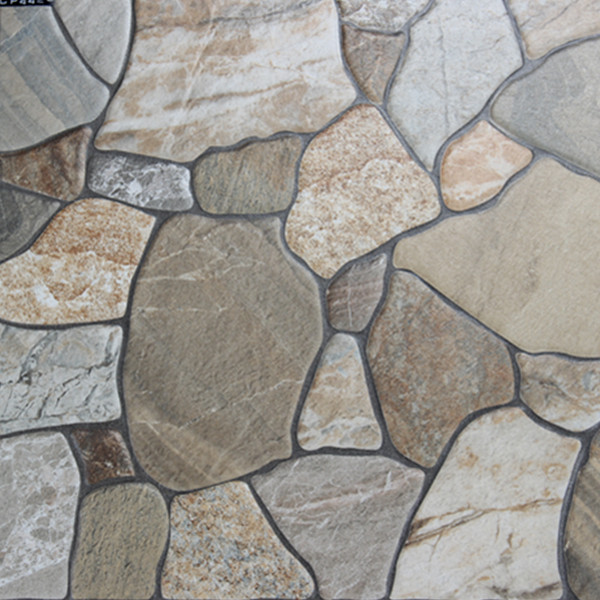 400x400mm imitation stone veranda floor tile outdoor for Balcony wall tiles
