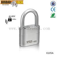 Anti theft alarm padlock with high security