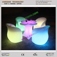 Plastic Bar LED Lighting Tea Table