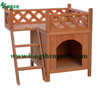 Solid wood style pet cat house