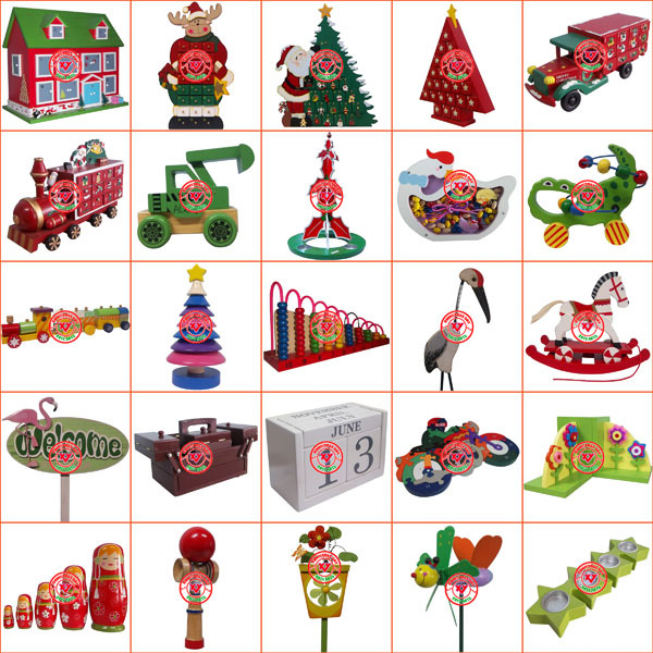 Countdown 2015 Christmas Wooden Advent Calendar Train