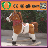 HI-CE plush wooden rocking horse toy, crazy mechanical riding horse,ride on horse for kids and adults
