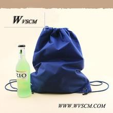 Fashionable promotion eco laminated non woven drawstring bag