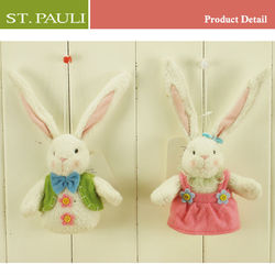 easter spring decor sedex audit factory 3 inch decorative easter day ornaments stuffed mini cute bunny easter tree ornaments