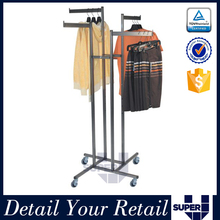Wholesale portable light weight metal 4 arm display rack for caps