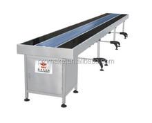 Flat PVC or PU belt steel conveyor with various length