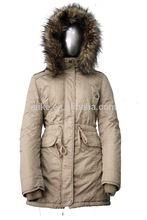 de piel con capucha chaqueta parka dama chaqueta de moda