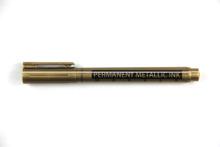 Oro y plata marcador permanente matellic rotulador