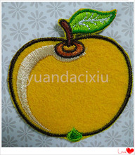 cute fruit embroidered applique, embroidery golden apple patch