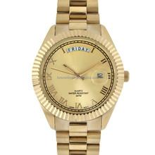 2015 gold wrist best and cheap alloy men watch