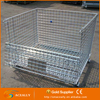 Stackable Wire Cage Wire Mesh Pallet Cage Folding Steel Storage Cage